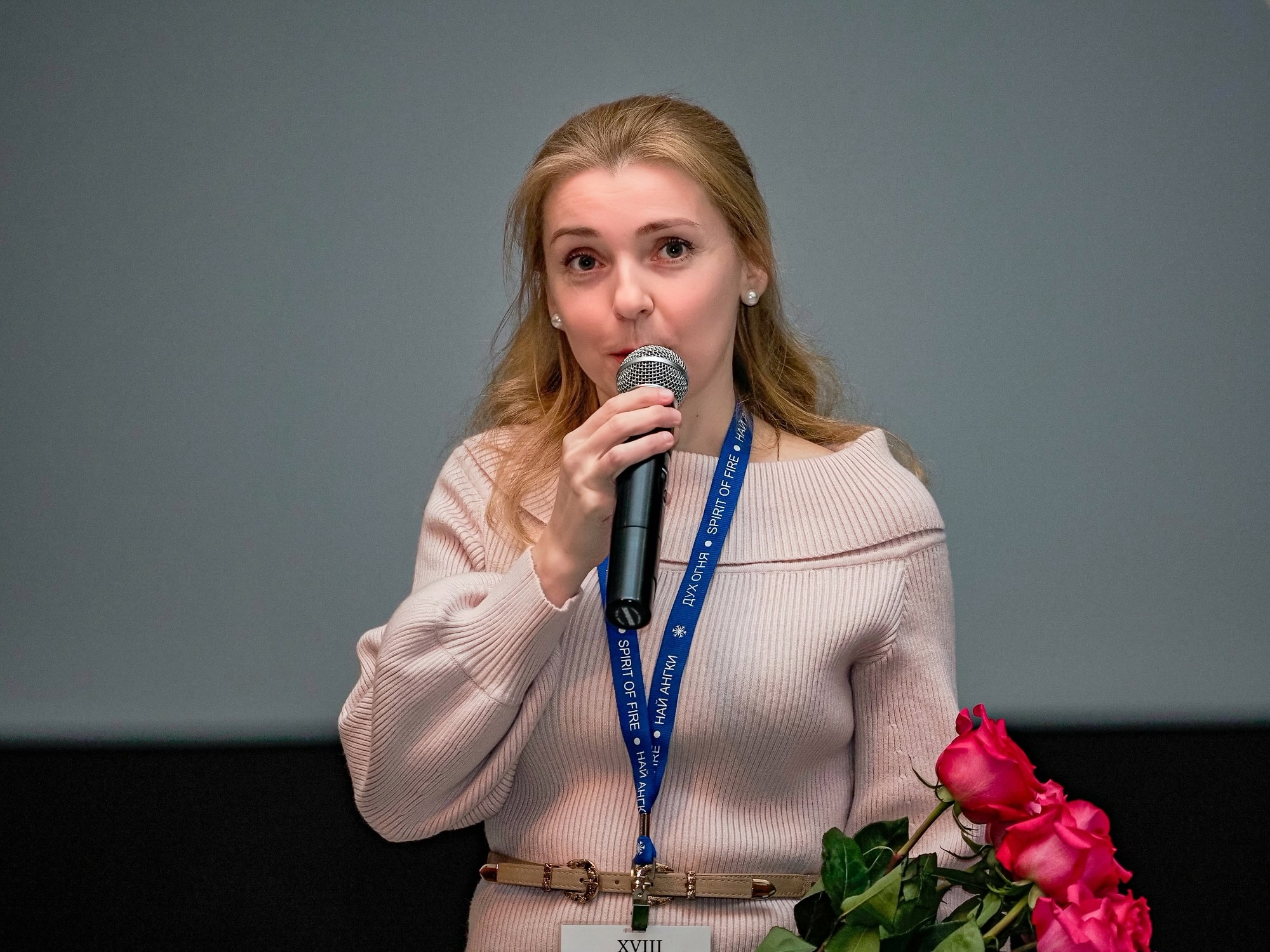 "Anna Barsukova presented the film ""Voice for the Voiceless"""